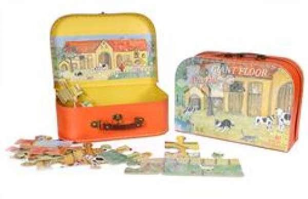 puzzel in koffer boerderij