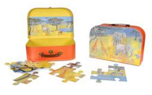 puzzel in koffer jungle