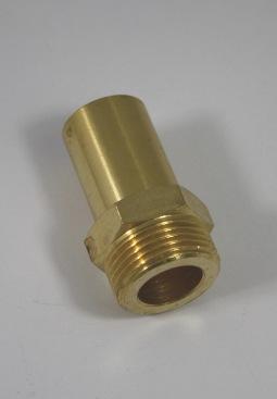 Verloopkoppeling van RVS ribbelbuis DN16 naar 22mm buis