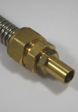 Knelkoppeling DN16 ribbelbuis naar 15mm koperen buis