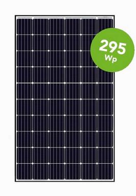 Canadian Solar zonnepaneel mono, 295Wp, 1650x992x40, wit laminaat, zwart frame