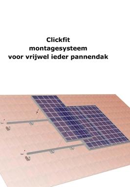 Compl.set v. paneel 1600x1000 op dakpan 3-10 st, 1 rij, per paneel