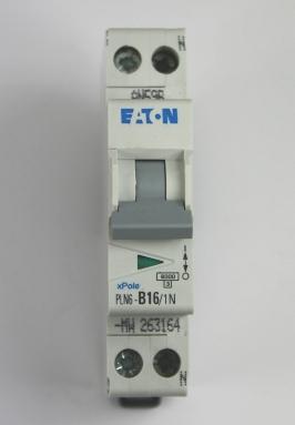 Eaton 1-fase automatische zekering 16A voor montage op een DIN-rail