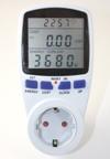 Elektriciteits verbruiks- of opbrengst meter met batterij backup