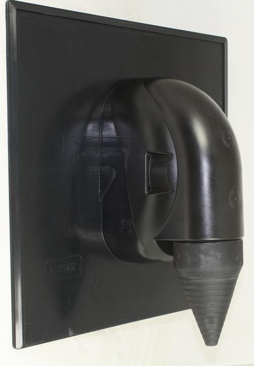 Klöber dakdoorvoer lei, zwart/antraciet