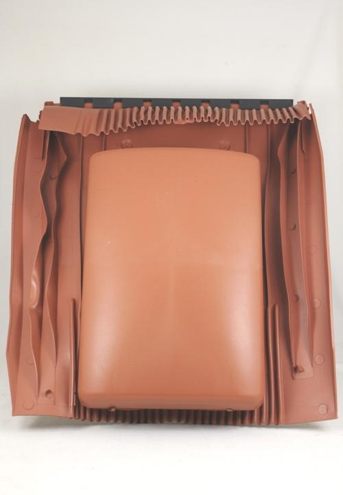 Klöber Venduct vlakke ventilatiekap terracotta