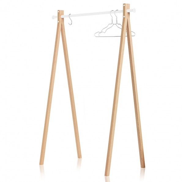Nomess Copenhagen Dress-up Kledingrek 120cm Naturel-Wit