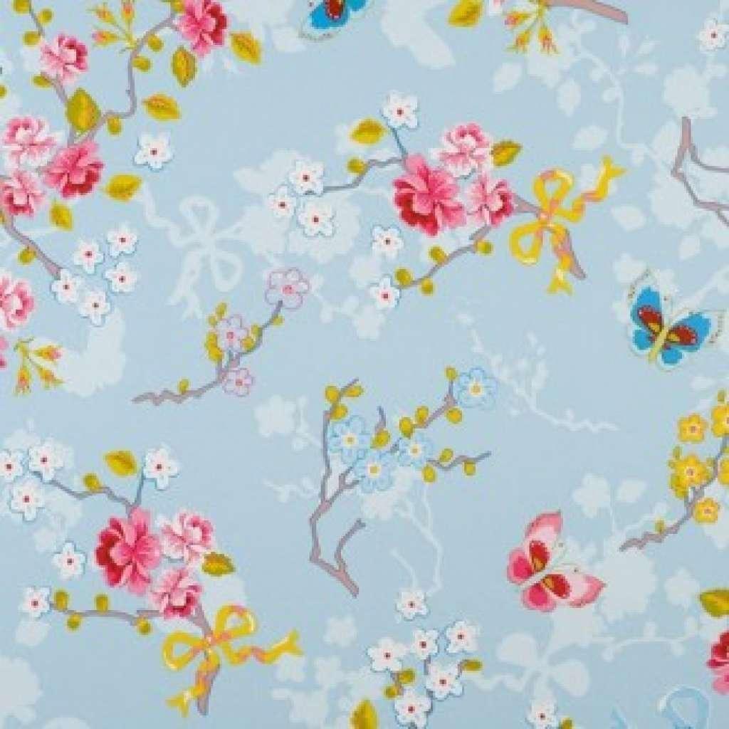 Pip Tapete Cherry Blossom : pip 386031 blauw pip behang productnummer 386031 prijs in euro 49 95