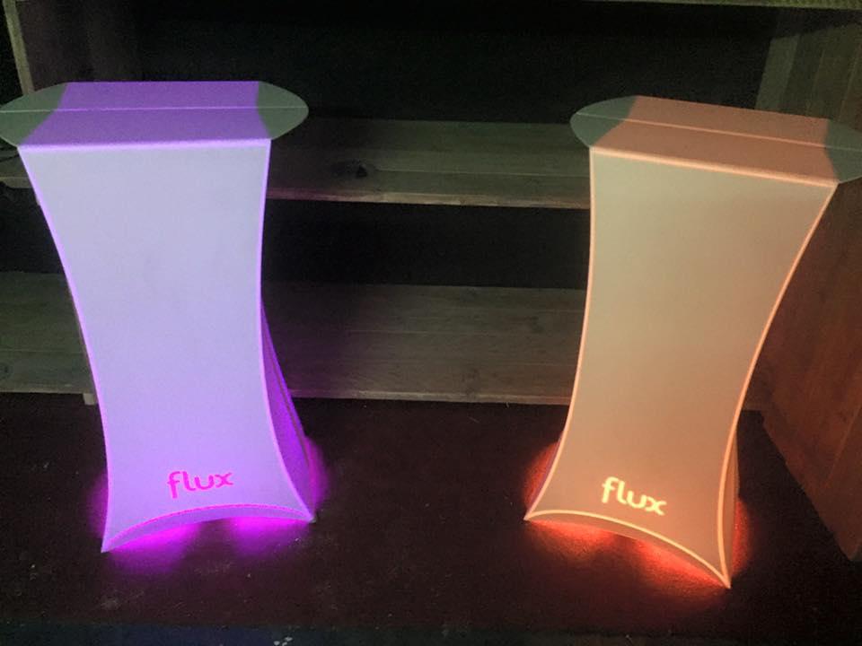 Flux statafel met led verlichting huren topdesign statafel
