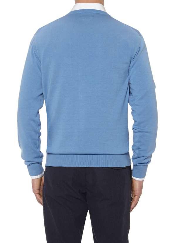 Blauwe trui.