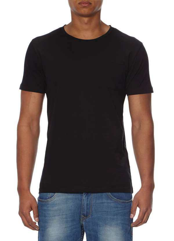 Blauw t-shirt met korte mouw