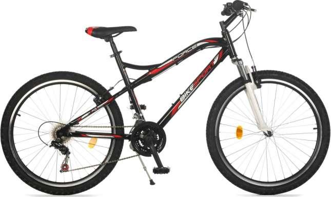 Zwarte mountainbike