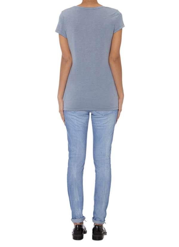 Licht blauw t-shirt met korte mouw