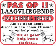 Pas op!! Laagvliegende Jack Russel Terrier