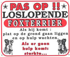 Pas op!! Loslopende Fox-Terrier