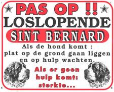 Pas op!! Loslopende Sint Bernard