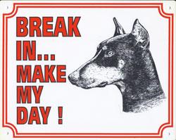 Break in make my day Dobermann