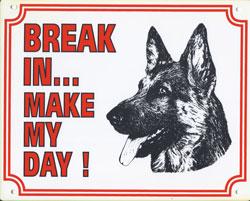Break in make my day Duitse Herder