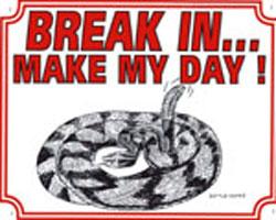 Break in make my day Ratelslang