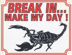 Break in make my day Schorpioen