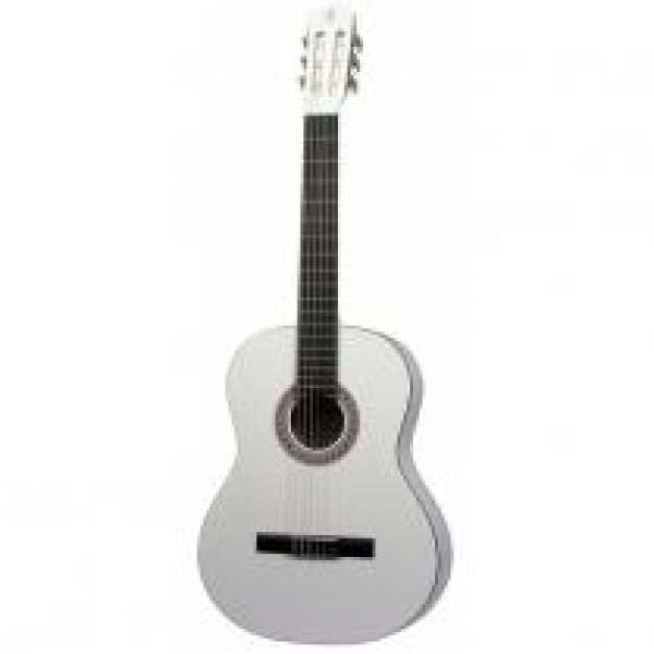 Gomez 001 4/4-model klassieke gitaar wit