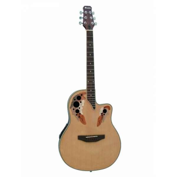Dimavery OV-500 elektrisch-akoestische gitaar naturel