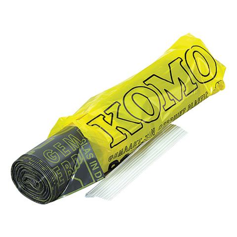 Grijze PE zak, Komo, 60 x 80 cm, LDPE/55mu