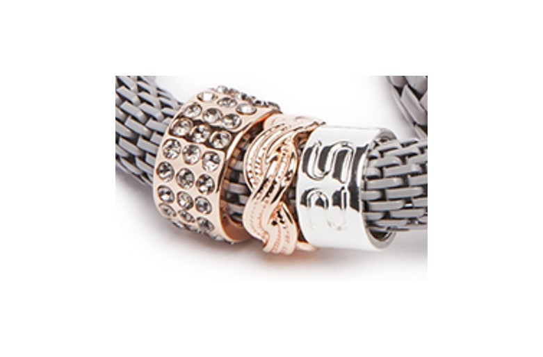 THE SNAKE STRASS BRACELET | ROMANTIC GREY & CLOVER