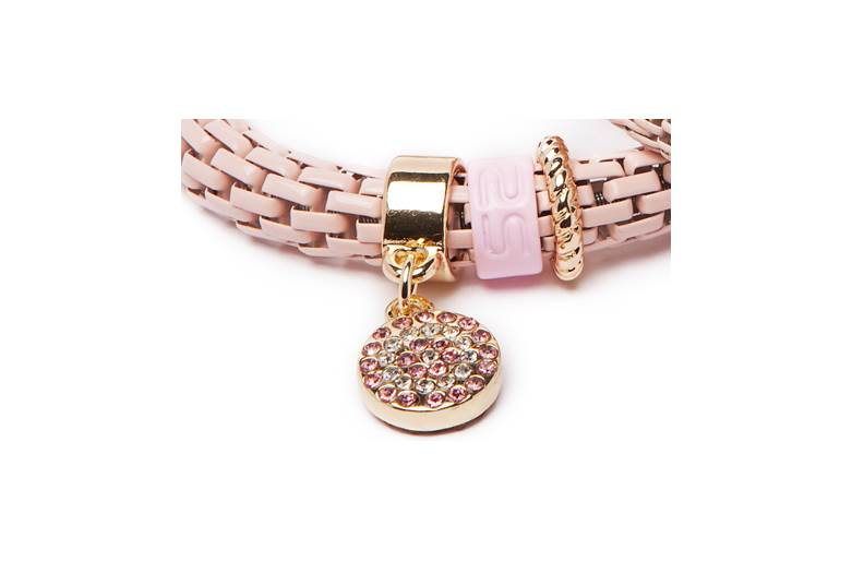 THE SNAKE STRASS | POWDER MY DAY WITH PINK & STRASS ROUND