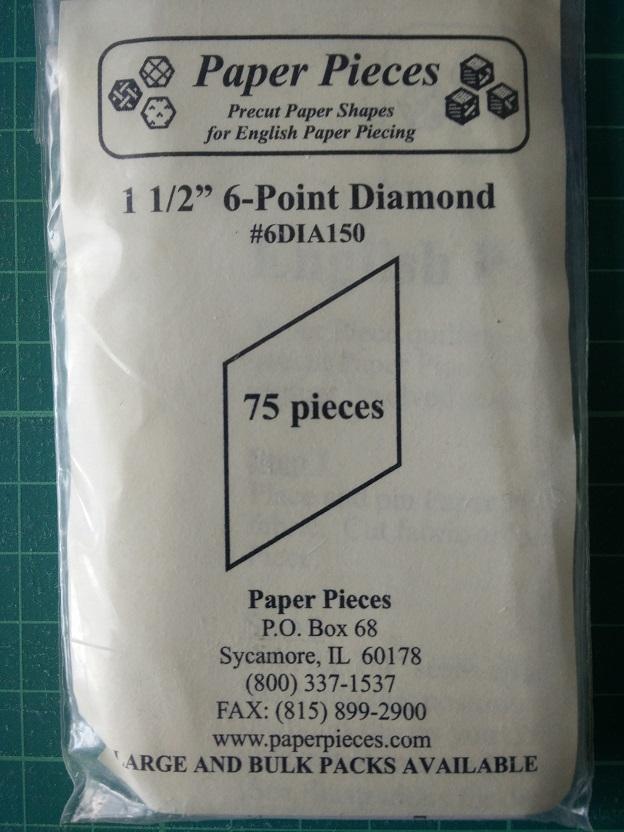 "Paper Pieces 1 1/2"" 6-Point Diamond"