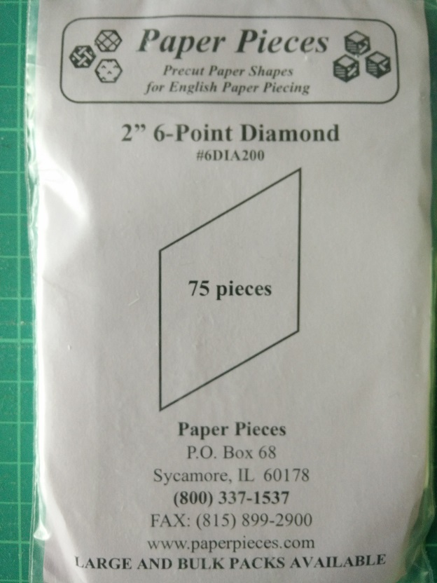 "Paper Pieces 2"" 6-Point Diamond"