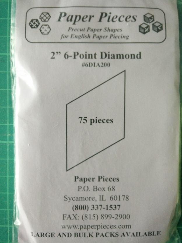 "Paper Pieces 2"" 6-Point Diamond"