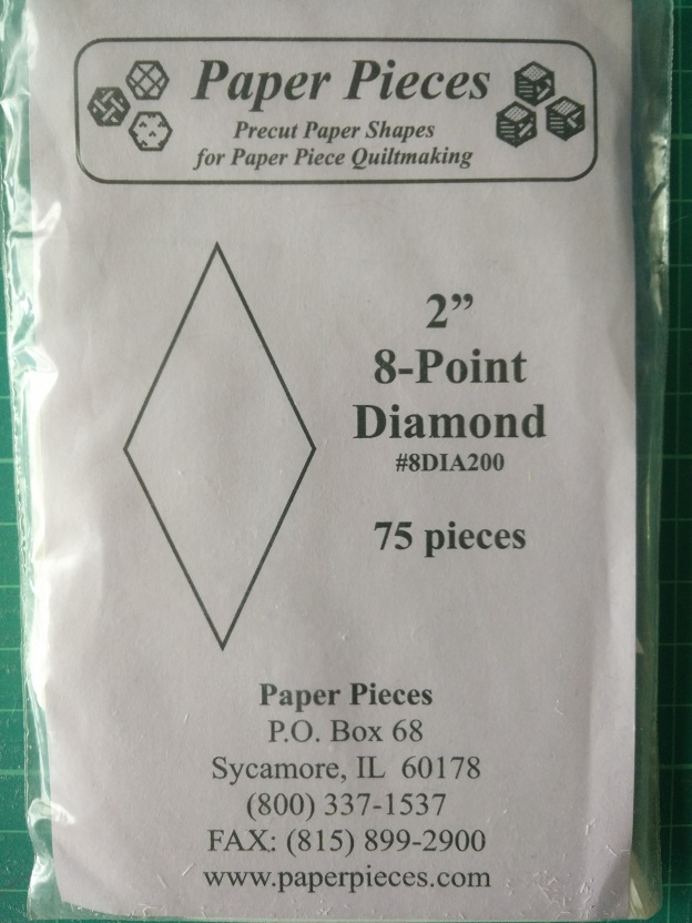 "Paper Pieces 2"" 8-Point Diamond"