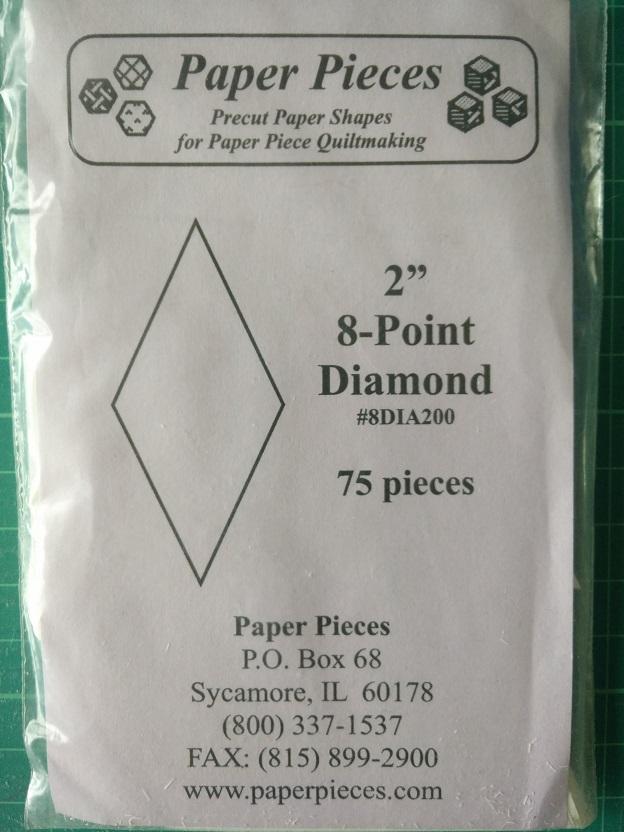 "Paper Pieces 2"" 8-Point Diamond"