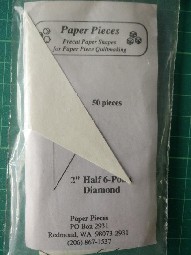 "Paper Pieces 2"" 1/2 6-Point Diamond"
