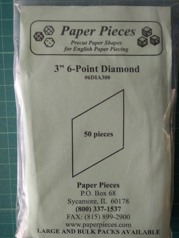 "Paper Pieces 3"" 6-Point Diamond"