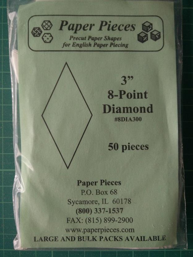 "Paper Pieces 3"" 8-Point Diamond"