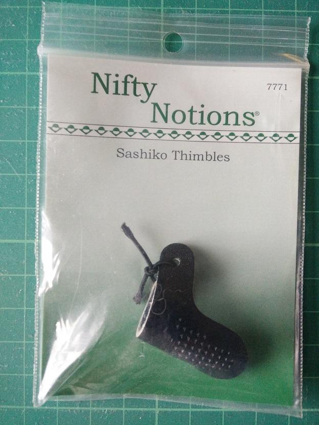 NN 7771 Sashiko Vingerhoed Leer