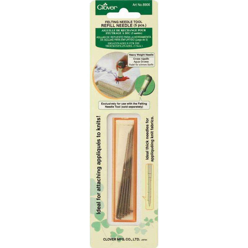 Clover 8906 Ref. needle Felting Tool (dik)