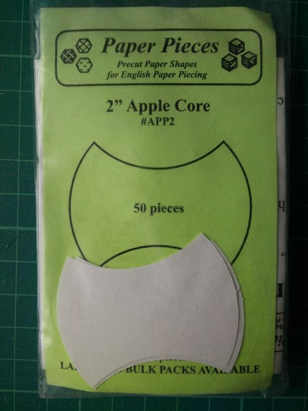 """Paper Pieces 2"""" Apple Core"""