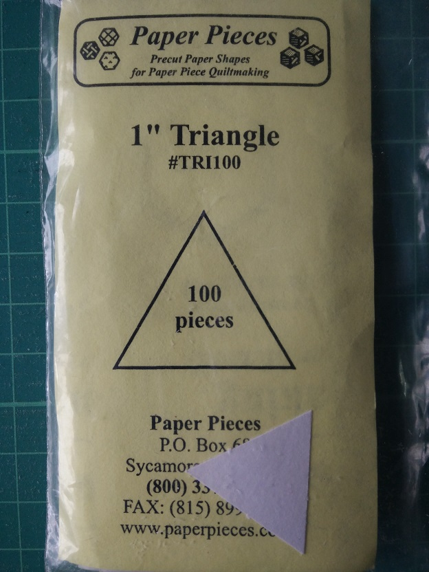 "Paper Pieces 1"" Triangle"