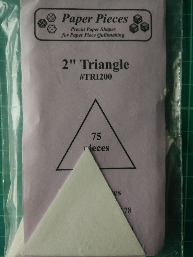 """Paper Pieces 2"""" Triangle"""