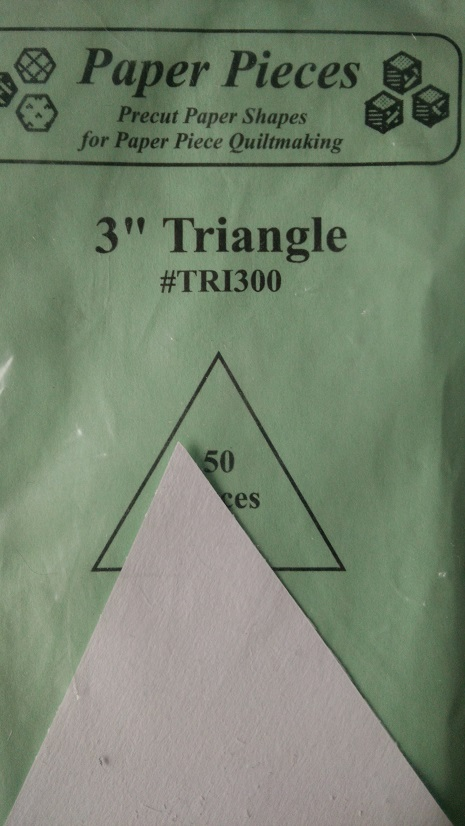 """Paper Pieces 3"""" Triangle"""