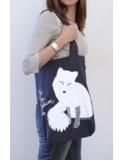 Fur Free Fashion tas blauw