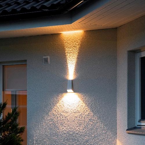 Imola 7911 310 Konstsmide Wandlamp Grijs Buitenverlichting