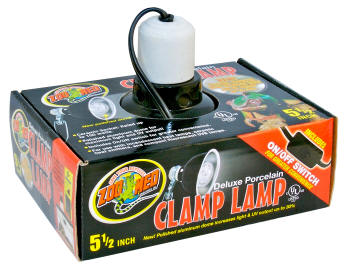 Deluxe Porcelain Clamp Lamp