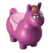 Barbapapa bouncing ball horse - pruple