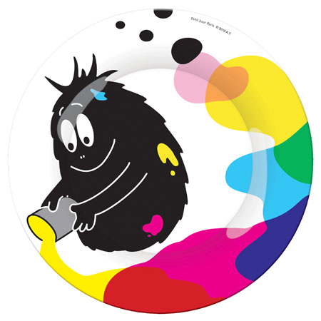 Barbapapa plate Barbabeau painting colors (20cm)