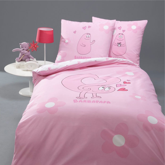 Barbapapa duvet cover Love pink