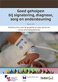 Brochure Goed geholpen bij signalering, diagnose, zorg en ondersteuningrochure (2015)